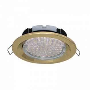 Ecola GX53 FT3225 светильник встраиваемый глубокий легкий золото 27х109