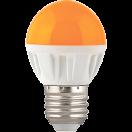 Лампа светодиодная Ecola globe LED 4.0W G45 220V E27 Yellow матовая колба 77х45