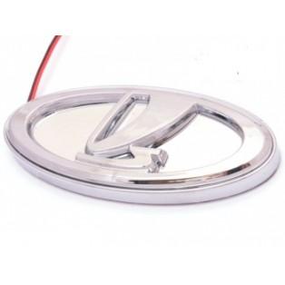 Трехмерная эмблема для Lada белого свечения