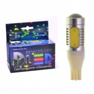 Автомобильная светодиодная лампа Т10-W5W-НР 5Led+линза 7,5 Вт 12V