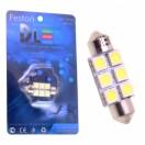 Автомобильная светодиодная лампа C5W SV8,5 36мм-SMD5050 6Led 1,44Вт 12V белый