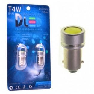 Автомобильная светодиодная лампа T4W ВА9S-НР 1Led 1Вт 12V белый