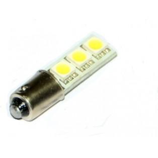 Автомобильная светодиодная лампа T4W ВА9S-SMD5050 3Led 0,72Вт 12V белый