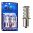 Автомобильная светодиодная лампа Р21W ВА15S-SMD5050 18Led 4,32Вт 12V белый