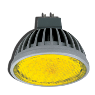 Лампа светодиодная Ecola MR16 LED 4.2W220V GU5.3 Yellow прозрачное стекло 47х50