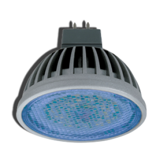 Лампа светодиодная Ecola MR16 LED 4.2W220V GU5.3 Blue прозрачное стекло 47х50
