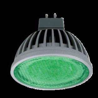 Лампа светодиодная Ecola MR16 LED 4.2W220V GU5.3 Green прозрачное стекло 47х50