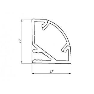Профиль угловой аллюминиевый LC-LPU-1717-2 Anod
