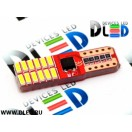 Автолампа светодиодная Т10-W5W- 24 SMD 3014 +обманка