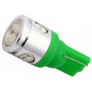 Автомобильная светодиодная лампа Т10-W5W-НР 1Led+3mini 2,5 Вт 12V зеленый