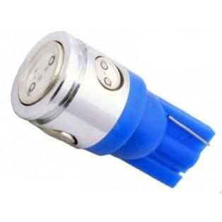 Автомобильная светодиодная лампа Т10-W5W-НР 1Led+3mini 2,5 Вт 12V синий