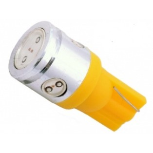 Автомобильная светодиодная лампа Т10-W5W-НР 1Led+3mini 2,5 Вт 12V желтый