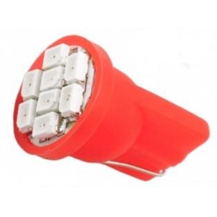Автомобильная светодиодная лампа Т10-W5W-SMD3528 8Led 0,8Вт 12V красный