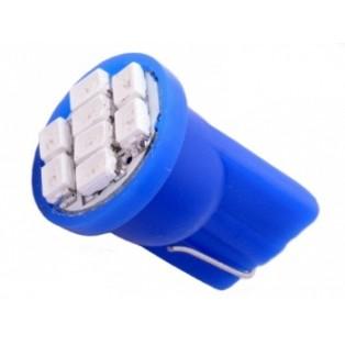 Автомобильная светодиодная лампа Т10-W5W-SMD3528 8Led 0,8Вт 12V синий