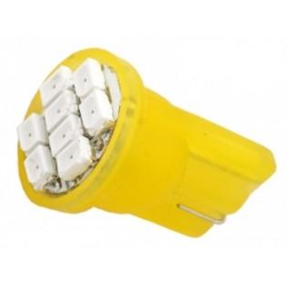 Автомобильная светодиодная лампа Т10-W5W-SMD3528 8Led 0,8Вт 12V Оранжевый