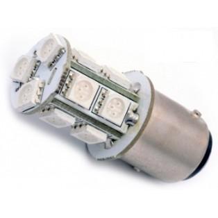 Автомобильная светодиодная лампа Р21W ВА15S-SMD5050 13Led 3,12Вт 12V красный