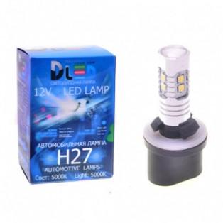 Автомобильная светодиодная лампа Н27-880- 10SMD2323 +линза 12V