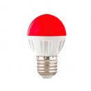 Лампа светодиодная Ecola globe LED 4.0W G45 220V E27 Red матовая колба 77х45