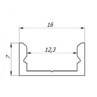 Профиль накладной аллюминиевый LC-LP-0716-2 Anod