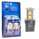 Автомобильная светодиодная лампа W21W-T20-7440 SMD5050 13Led 3,12Вт 12V белый