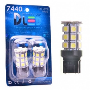 Автомобильная светодиодная лампа W21W-T20-7440 SMD5050 18Led 4,32Вт 12V белый