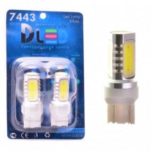 Автомобильная светодиодная лампа W21W-T20-7443 НР 4Led 6Вт 12V белый