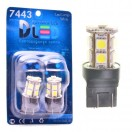 Автомобильная светодиодная лампа W21W-T20-7443 SMD5050 13Led 3,12Вт 12V белый