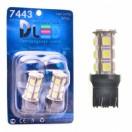 Автомобильная светодиодная лампа W21W-T20-7443 SMD5050 18Led 4,32Вт 12V белый