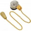 Выключатель для настенного светильника с деревянным наконечником, gold REXANT