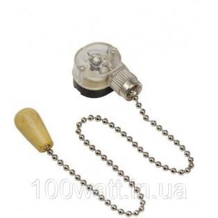 Выключатель для настенного светильника с деревянным наконечником, silver REXANT