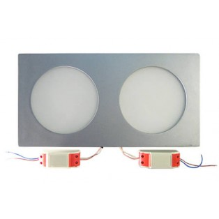 Светильник LED серый прямоуг-ый 350*180*20 20Вт ХБ