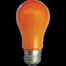 Лампа светодиодная Ecola classic LED 8.0W A55 Е27 220V 360° ОРАНЖЕВАЯ 108х55