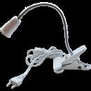 Ecola base Светильник прищепка с вилкой с выключателем-патрон Е27 гибкий 300мм
