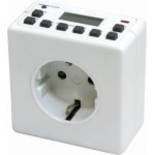 Розетка с таймером ТМ21 (недельная) 3500W/16A 230V