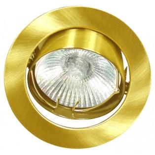 Cветильник потолочный поворотный Золото MR16 DH03 GU5.3 Ecola 25х88