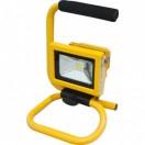 Прожектор квадратный переносной,1LED*10Вт белый 230V желтый (IP65), LL-260