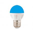 Лампа светодиодная Ecola globe LED 4.0W G45 220V E27 Blue матовая колба 77х45