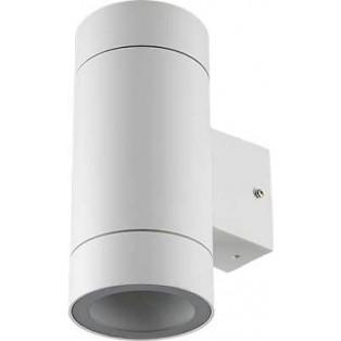 Светильник Ecola 2*GX53 LED 8013A IP65 прозрачный Цилиндр Белый матовый 205х140х90