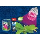 Светодиодная лампа для растений LED-М80-20W/SP/E27/CL IP54