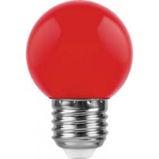 Лампа 1W, E27, красный, LB-37
