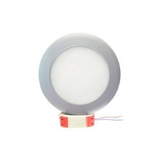 Светильник LED серый круглый 180*180*13 10Вт ХБ