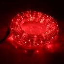 LEDшнур 13мм,круглый,5м,чейзинг,КРАСНЫЙ,Led 24,220V,с контроллером