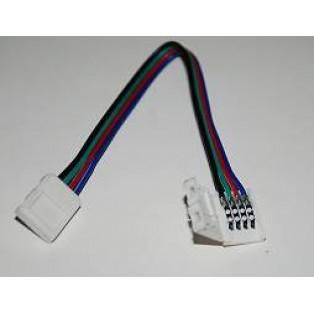 Коннектор LED CN*2-10мм (5050 RGB, провод 15см)