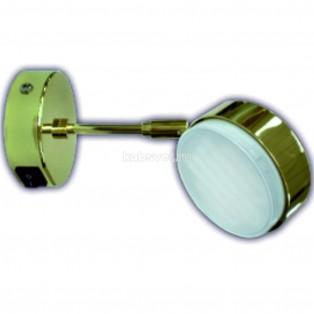Ecola GX53 FT4173 светильник поворотный на среднем кроншт. золото 210х80