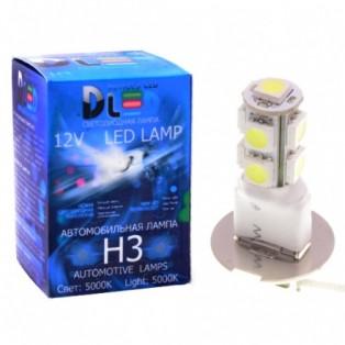 Автомобильная светодиодная лампа Н 3-SMD5050 9Led 2,16Вт 12V