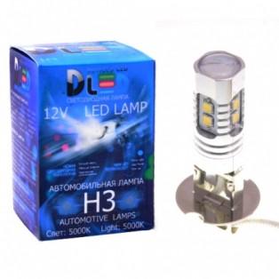 Автомобильная светодиодная лампа Н 3-SMD2323 10Led (линза) 10Вт 12V