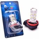 Автомобильная светодиодная лампа Н 8- Epistar 10Led (линза) 50Вт 12V