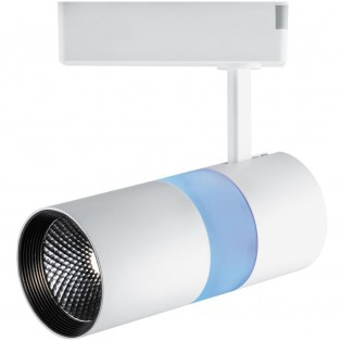 Светильник трековый на шинопровод 12+5W, 35°, 1080Lm,4000К, белый+синяя , AL108