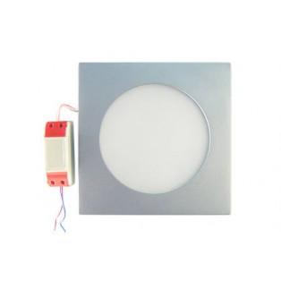 Светильник LED серый квадратный 180*180*13 10Вт ТБ