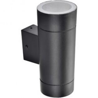 Светильник Ecola 2*GX53 LED 8013A IP65 прозрачный Цилиндр Черный 205х140х90